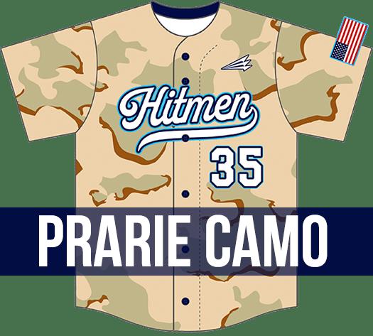 Triton Prarie Camo Baseball Jersey