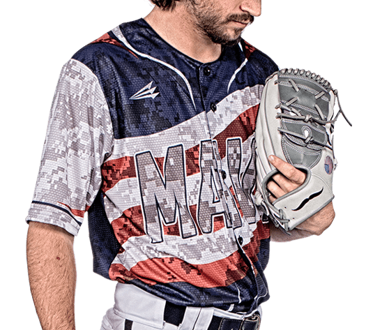 Triton Patriotic Baseball Jersey P106 PHOTO