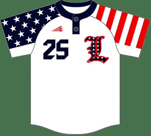 Triton Patriotic Baseball Jersey P101