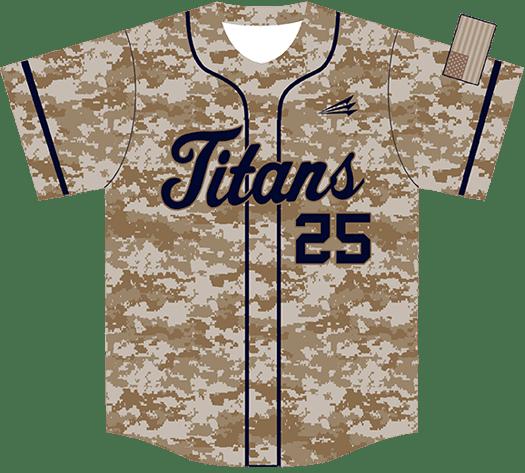 Triton Camo Baseball Jersey C128