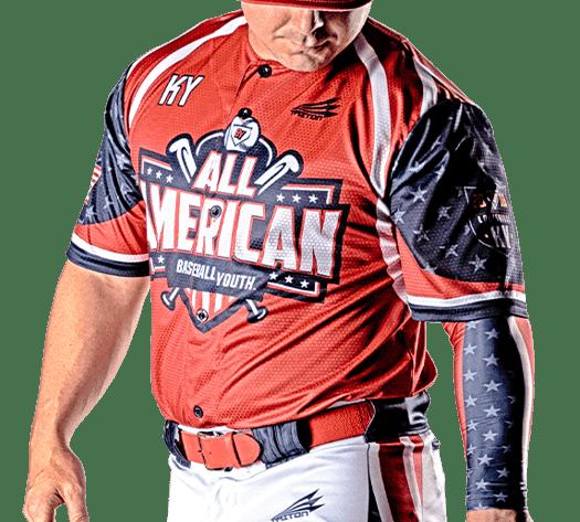 Triton Patriotic USA Baseball Jersey P126 Photo