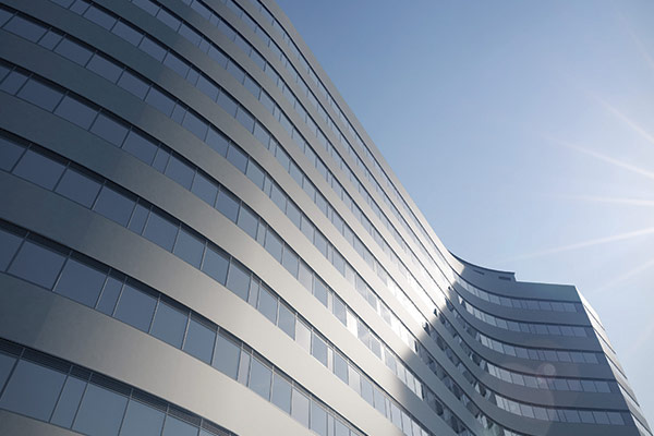 The distinct curved shape of the Eqipoint buy to let investment property in Birmingham UK
