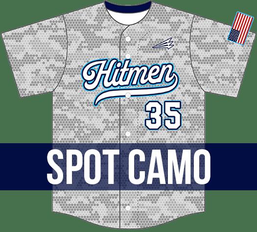 Triton Spot Camo Baseball Jersey