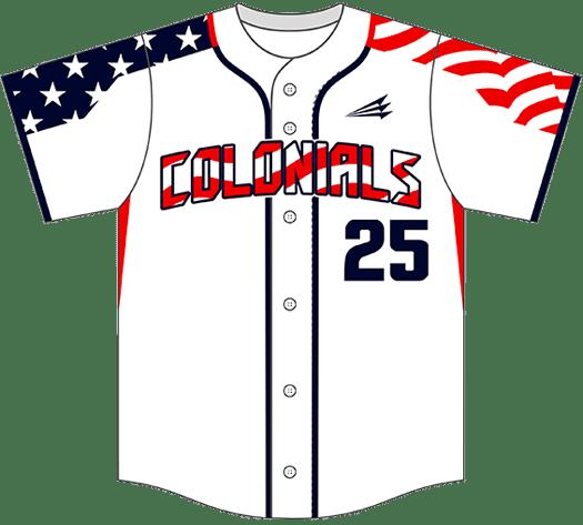 Triton Patriotic USA Baseball Jersey P115
