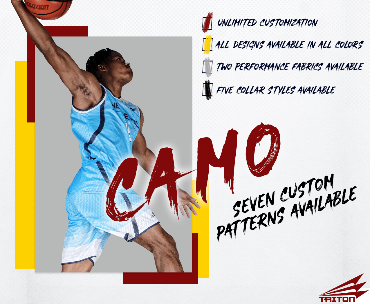 Triton Camo Basketball Jerseys