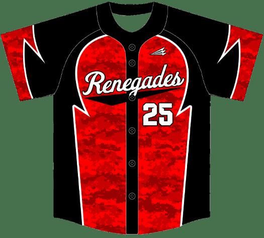 Triton Camo Baseball Jersey C126