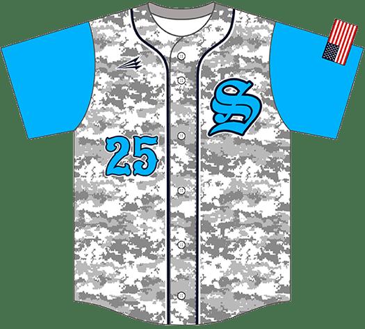 Triton Camo Baseball Jersey C108