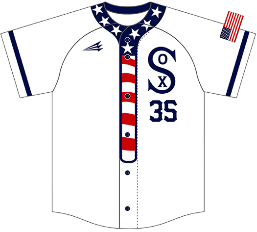 Triton Patriotic Baseball Jersey P109