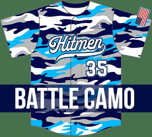 Triton Battle Camo Baseball Jersey