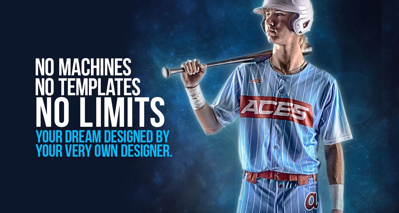 No Templates No Limits Baseball Jerseys