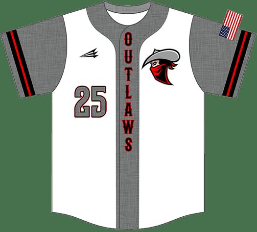 Triton Flannel Baseball Jersey FL116