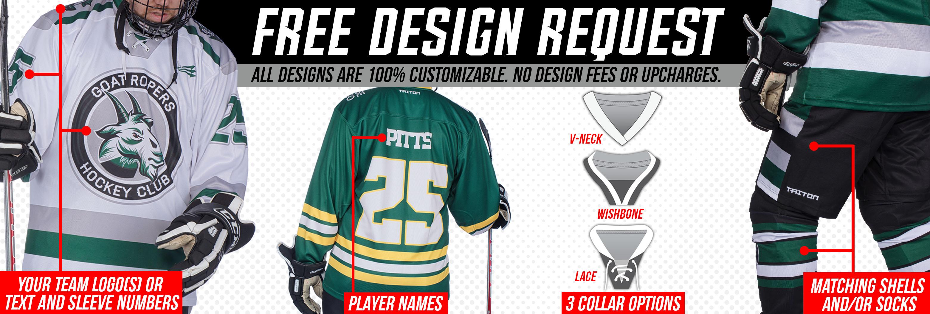 Custom Hockey Jersey Free Designs