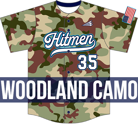 Triton Woodland Camo Baseball Jersey