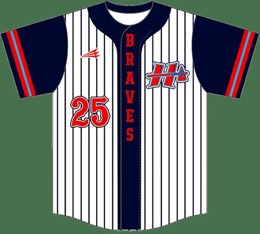 Triton Pinstripe Baseball Jersey PS110