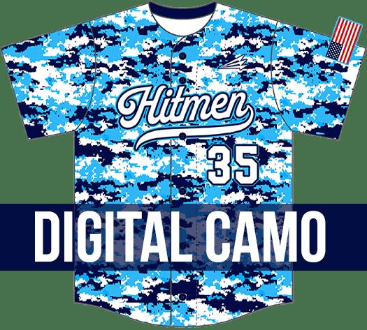 Triton Digi Camo Baseball Jersey
