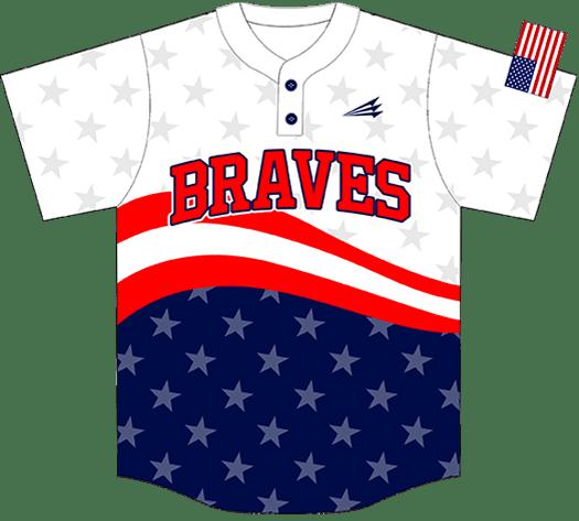 Triton Patriotic Baseball Jersey P114