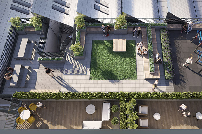 Image of roof terrace at Apex Lofts 1 of 2
