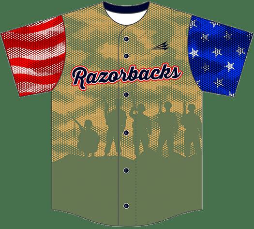 Triton Patriotic USA Baseball Jersey P123