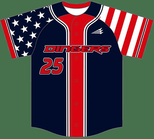 Triton Patriotic Baseball Jersey P104