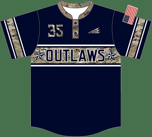Triton Patriotic USA Baseball Jersey P131