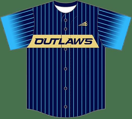 Triton Pinstripe Baseball Jersey PS101