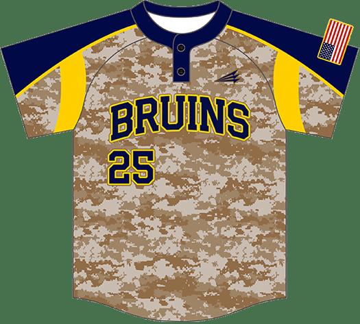 Triton Camo Baseball Jersey C102