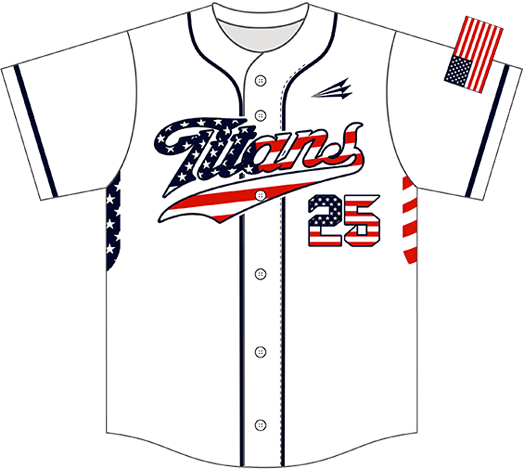 Triton Patriotic Baseball Jersey P103