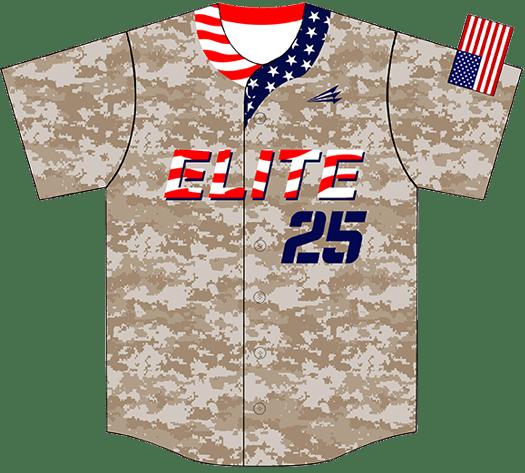 Triton Patriotic USA Baseball Jersey P111