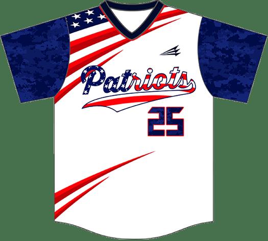 Triton Patriotic Baseball Jersey P107