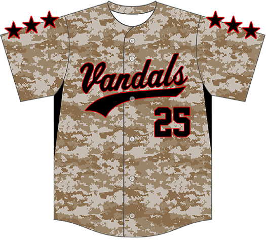 Triton Camo Baseball Jersey C129